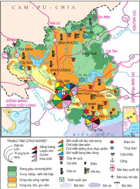Vấn đề khai thác lãnh thổ theo chiều sâu ở Đông Nam Bộ