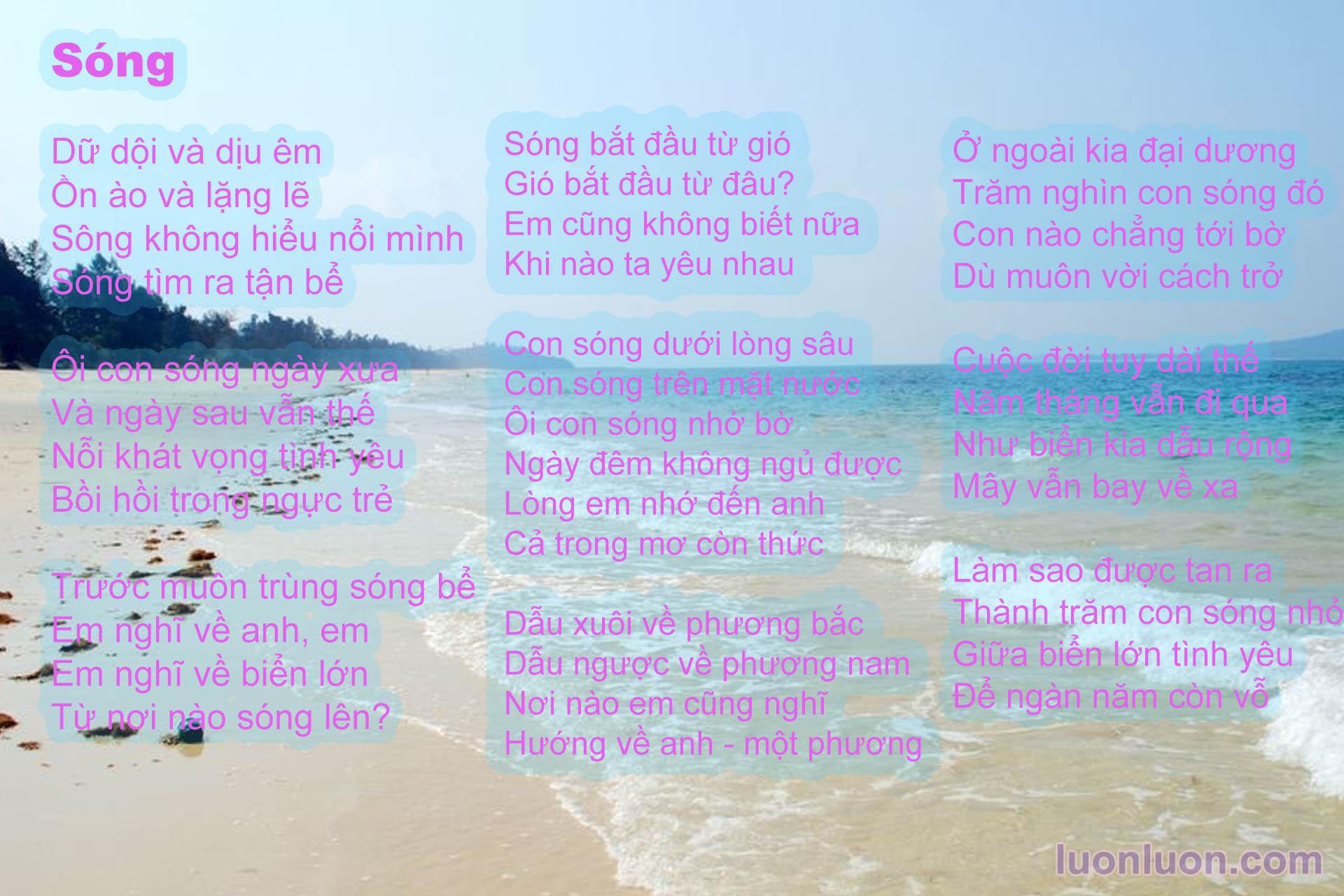 Song - Xuan Quynh - Tho tinh