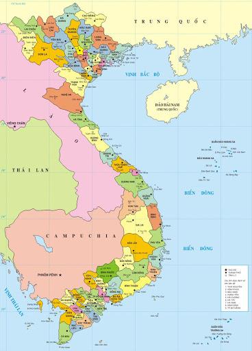 tấm bản đồ Việt Nam