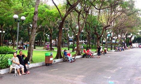 Bài văn lớp 6 Tả công viên vào buổi sáng sớm